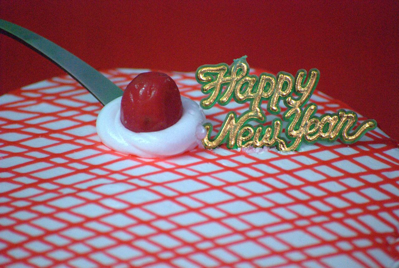 HAPPY NEW YEAR 2017, Bangalore Cake Cherry Cream Happy New Year Happy New Year 2017 India New Year New Year 2017 New Year Around The World New Year Celebration New Year Eve Year 2017