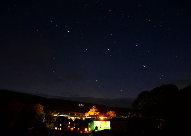 Night Over Thwaite Night Star - Space Illuminated Astronomy Tree Sky Nature Outdoors Beauty In Nature People Nikon D7000 Long Exposure Landscape Globular Star Cluster Space And Astronomy
