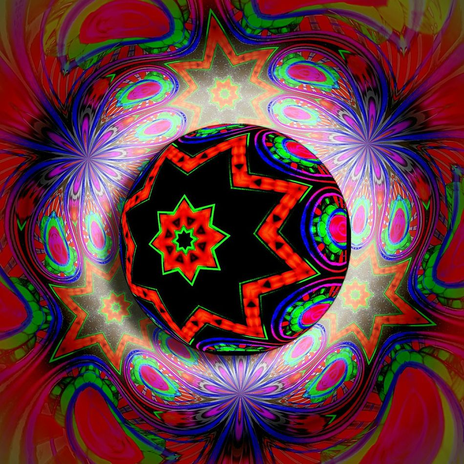 3d Paisley Sphere Multi Colored Pattern Celebration Abstract Backgrounds No People Close-up Digital Art Vibrant Colors Ball Sphere Orb Hotpink BOUNCE