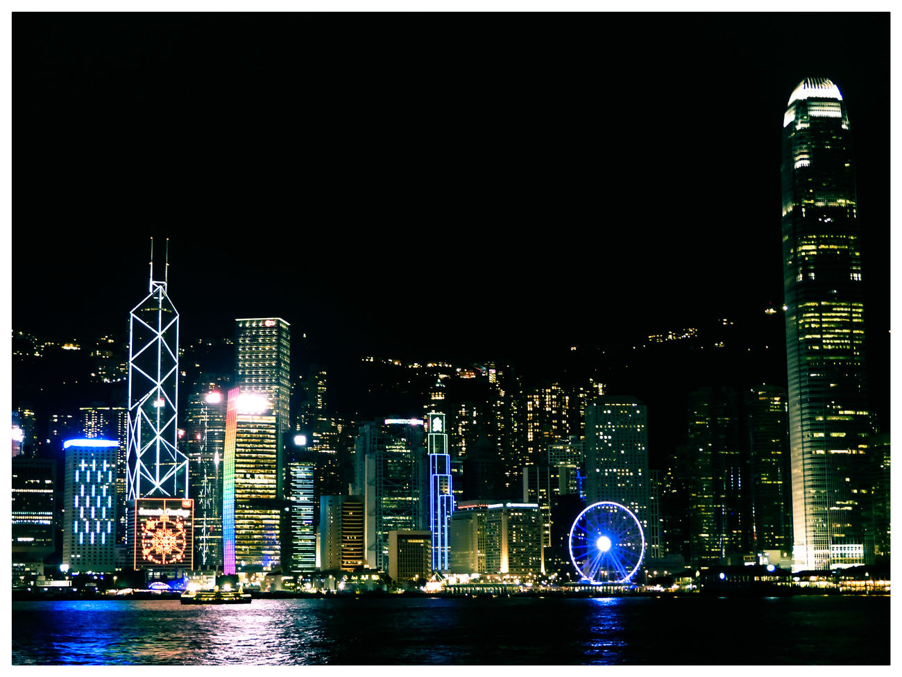 Hong Kong Hong Kong Victoria Harbour Night Photography City Skyline Cityscapes