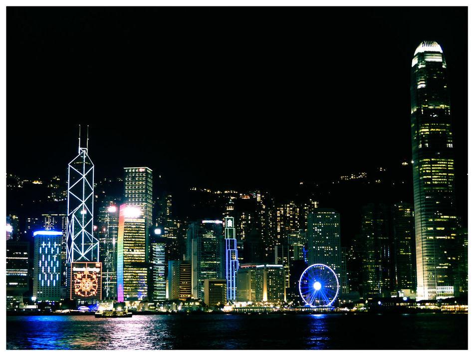Hong Kong Hong Kong Victoria Harbour Night Photography City Skyline Cityscapes