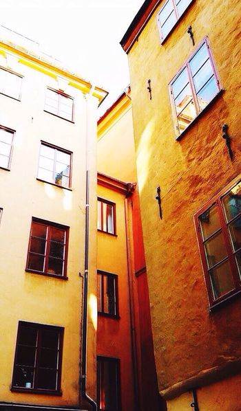 Building Exterior Architecture Built Structure Low Angle View Window No People Wall Lamp Sky Outdoors Day