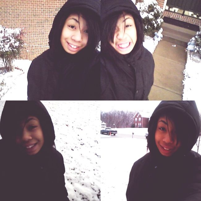 Being Cute Snow Cold Winter ❄⛄ Coat Downtown Chillin