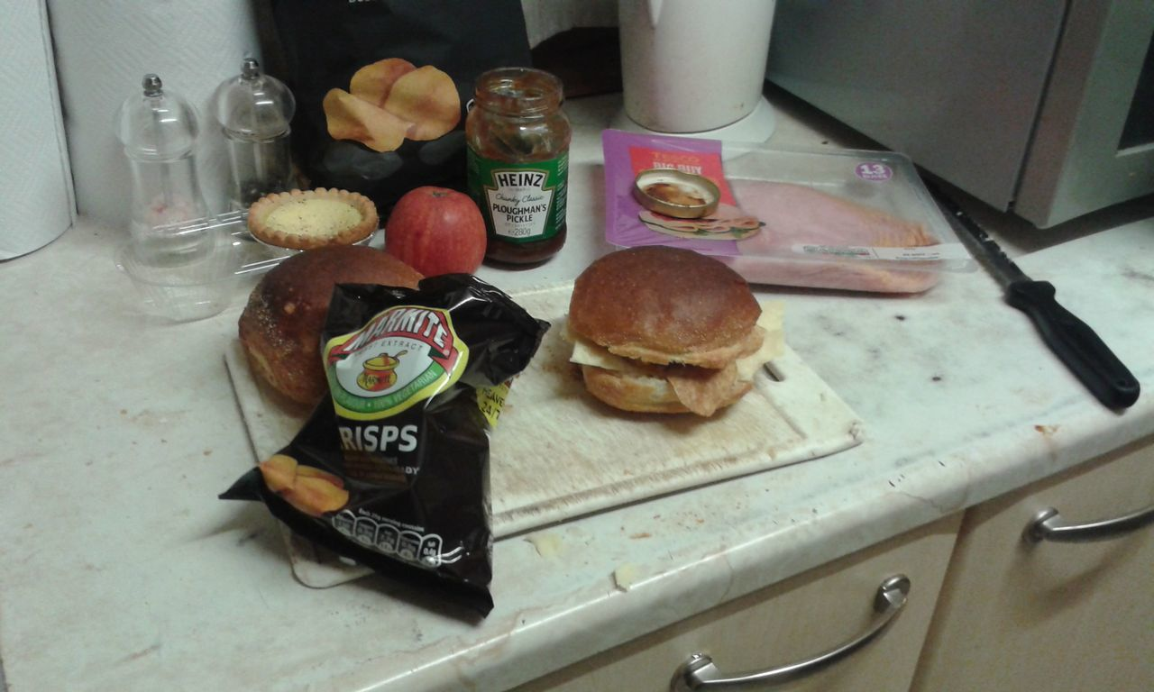 So I had cheese pickle and marmite baker's roll Snack Time Uk Razorspics Stinget11th Enjoying Life