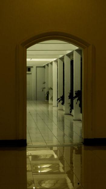 Passage To Another World Quietness Architecture Building Corridor Darkness And Light Door Indoors  Interior No People Old Building  Passage Passageway