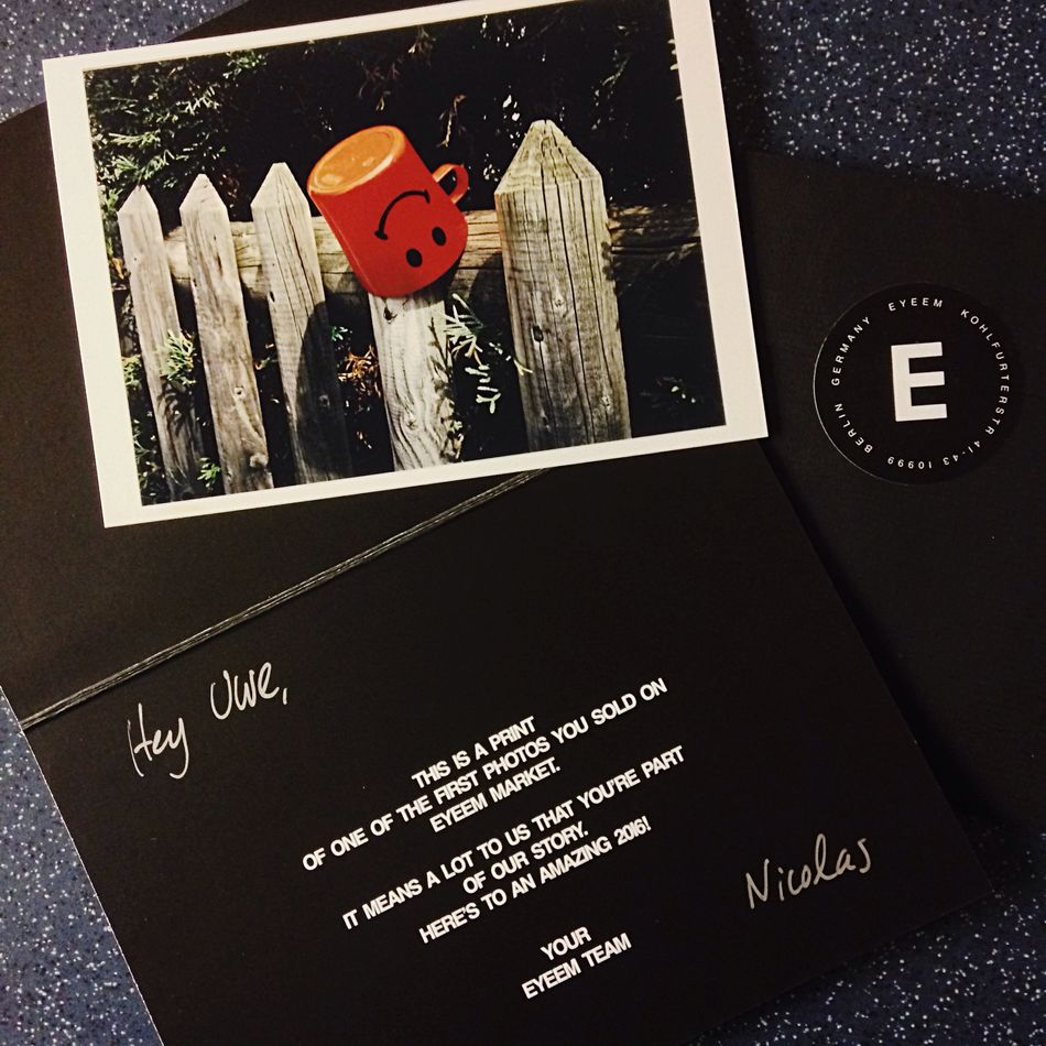 Thanks EyeEm for this Surprise in my Letterbox ! Realphotography Letter EyeemTeam Somedaysago Happy Youmademyday Smile Cup Red