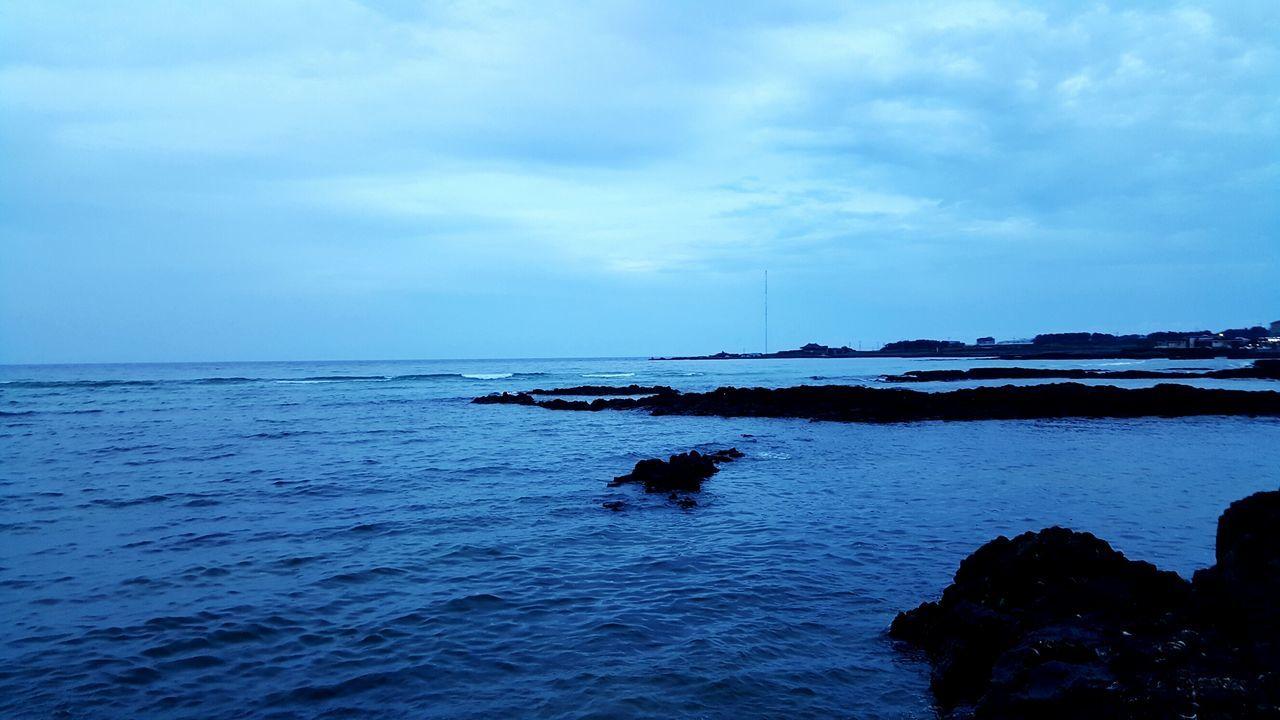 세화해변 Jeju Island, Korea Sea Water Sky Blue Outdoors Horizon Over Water Scenics