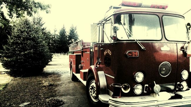 Fire Trucks Vintage Firetruck Classic Automobile Firemen's Truck Vintage Vehicles First Responders Red Vintage Photography No People Collector Wall Art Fire Fighting