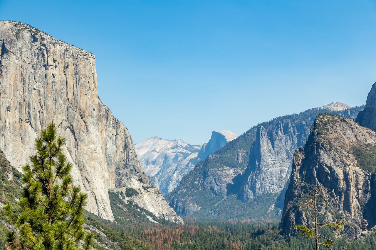 Cathedral Rocks Clear Sky Day El Capitan Half Dome Landscape Mountain Nature No People Outdoors Sky Tunnel View Tunnel View - Yosemite National Park Yosemite Yosemite National Park