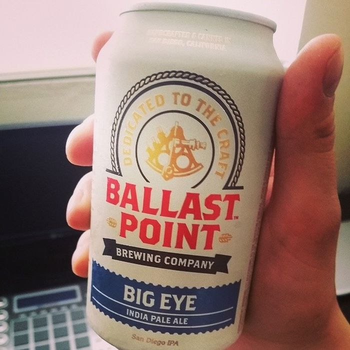 I'm going to say Bigeye tastes better in a can. BallastPoint Beer Sandiego california beersnob ipa