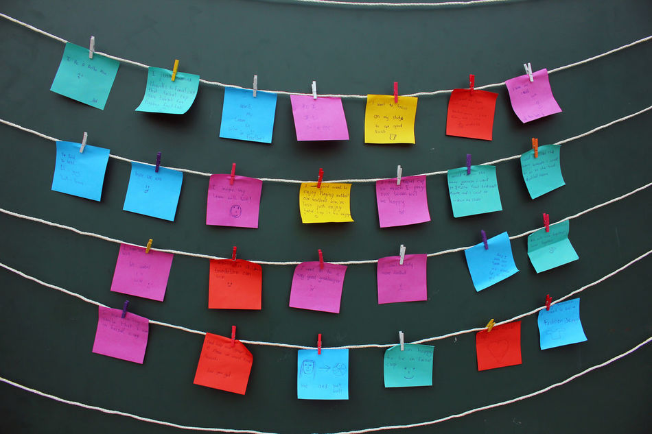 Arrangement Colorful Decoration Design Message Multi Colored Pledge Post It Post It Note Post It Notes Post It Paper Repetition Wish Wishes Colour Of Life The Color Of School