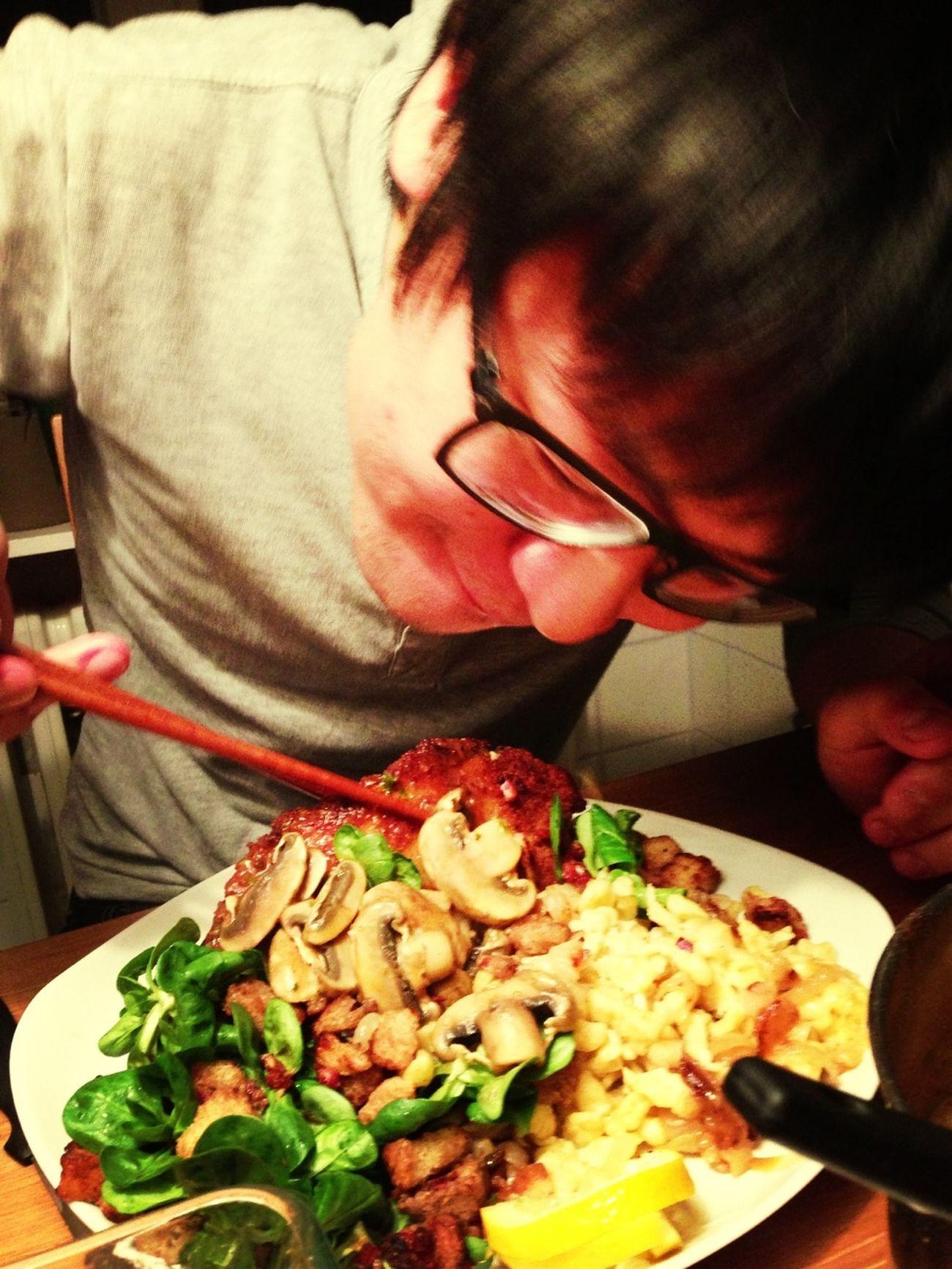 Schnitzel Mit Stäbchen