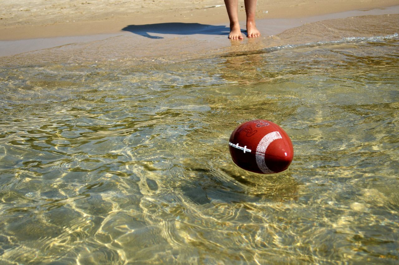 Missing summer Beach Low Section Outdoors Football Water Feet In The Water Floating On Water Summer2016 Sport Sand Red Ball Outdoors Day One Person Sand Leisure Activity Beach Sport Playing Water Reflections Crystal Clear Waters