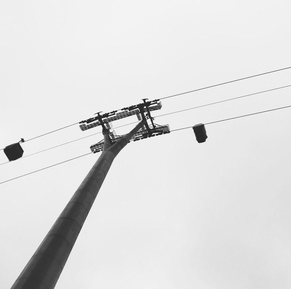 Hanging boxes II Minimalism Black And White Blackandwhite Cable Car