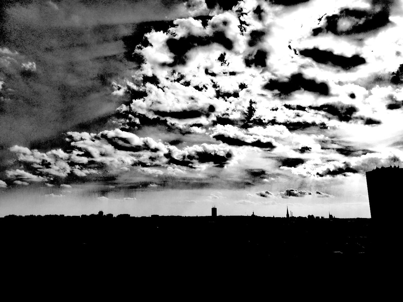 Hanging Out City Landscape Sky And Clouds Check This Out City View  Black And White Photography Black & White Photography Blackandwhite Photography Black Black & White Enjoying Life Skyline Blackandwhite Sky Light And Shadow Taking Photos Relaxing Hello World Cityscape Symbol Symbolic  Symbolism