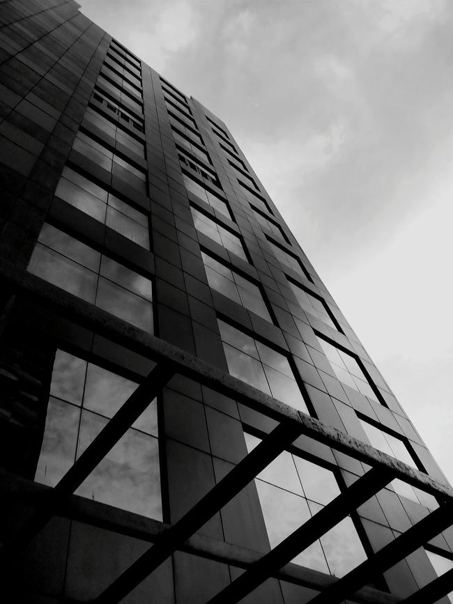 Modern Architecture Façade Built Structure Building Exterior Sky Futuristic Skyscraper Business Finance And Industry Cloud - Sky Steel Downtown District City Reflection Office Building Exterior Office Low Angle View Corporate Business No People Outdoors Bnw_collection Bestsellers 2017 The Week On EyeEm Premium Collection Blackandwhite