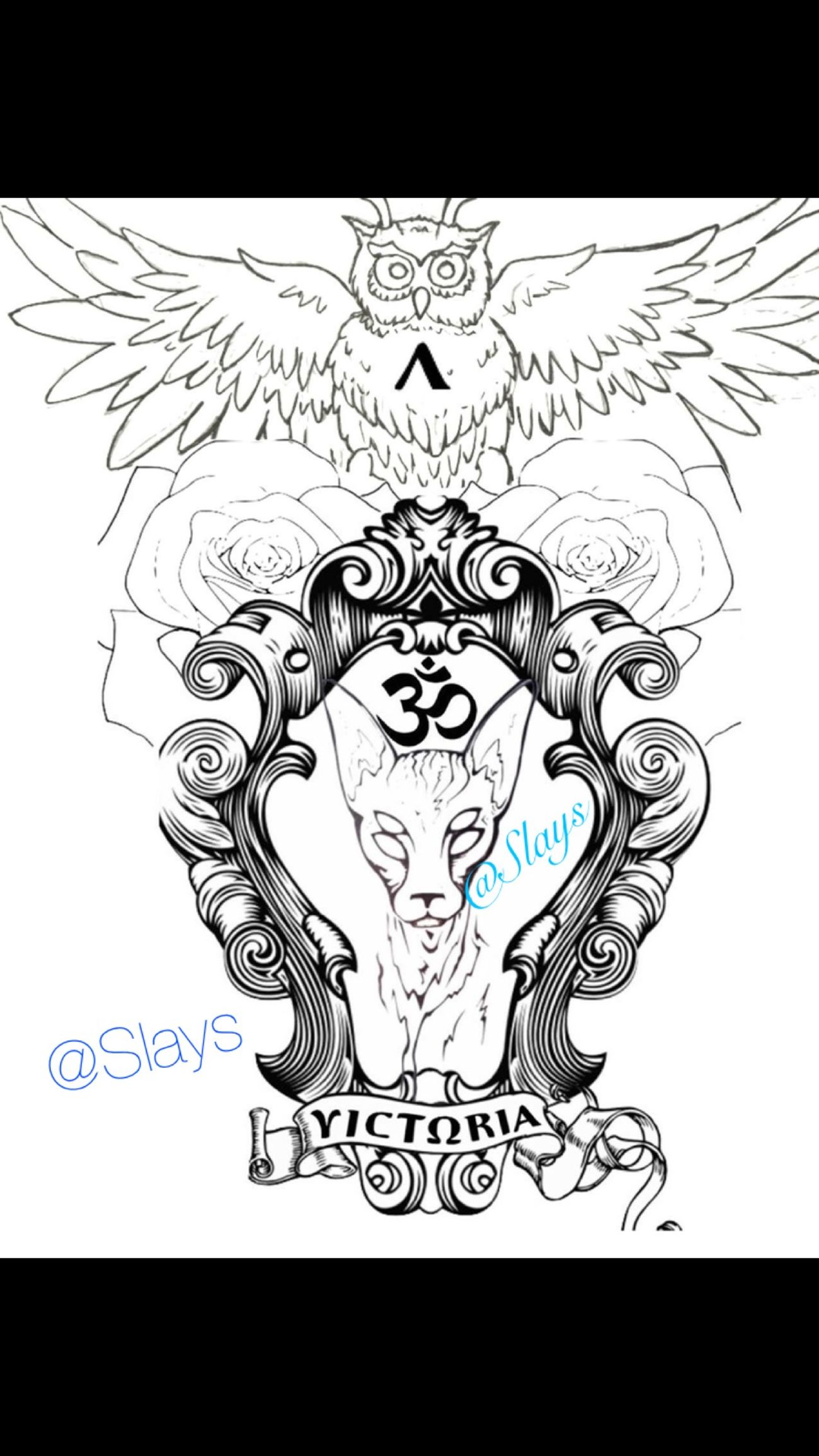 Chest piece design I made. Contact me if you want some work designed for you! Check This Out Tattoo Gfx Design Owl Portrait Egyptian Tattoo Design