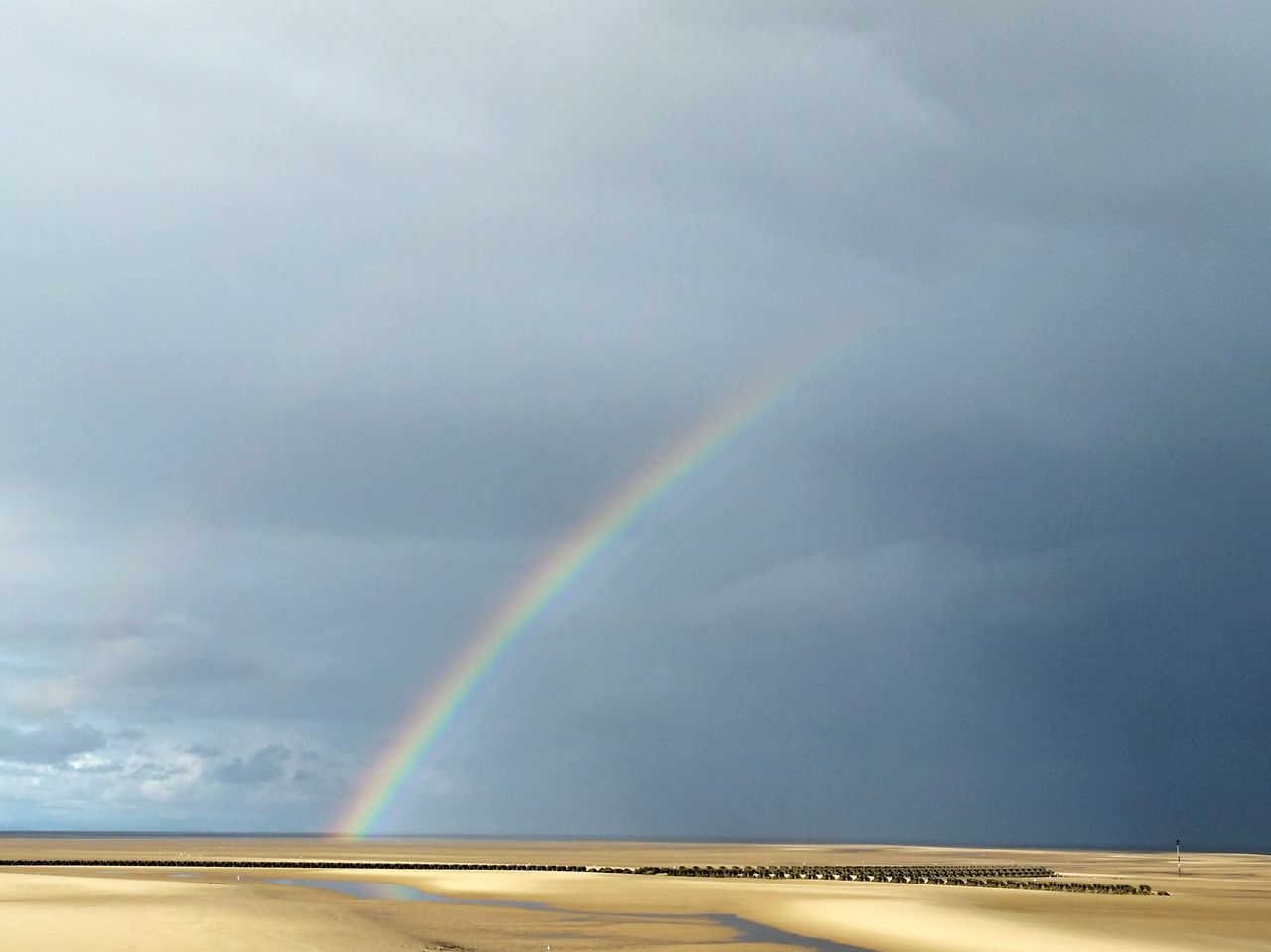Beautiful stock photos of rainbow, Beach, Beauty In Nature, Cloud - Sky, Cloudy