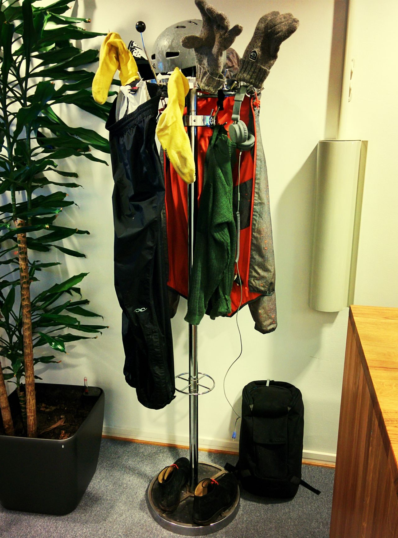 Rain Biking Drying Clothes Christmas Tree