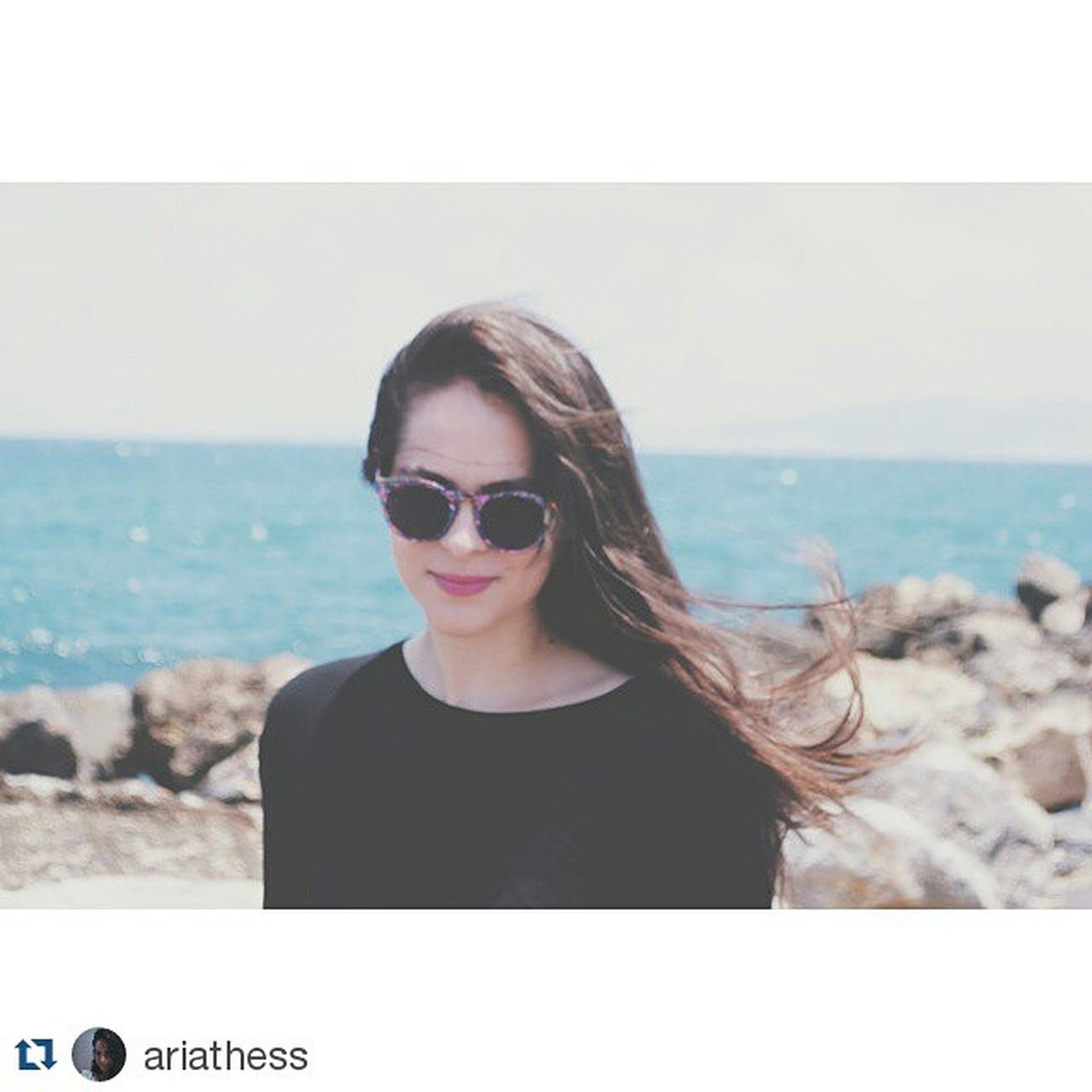 Girl Sea Sun Fiogos original My_beautiful_friends Repost @ariathess ・・・