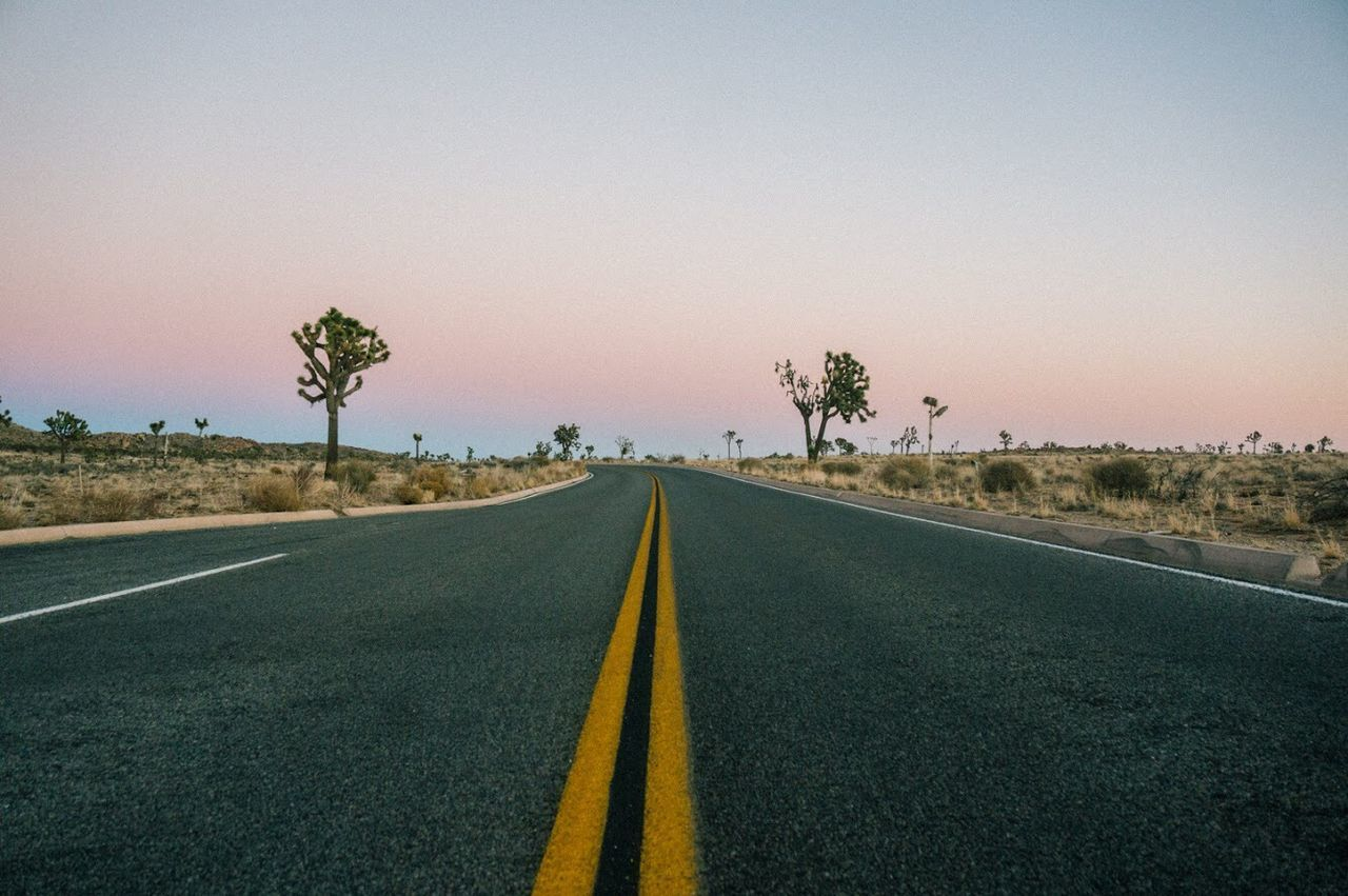 Beautiful stock photos of outdoors, Clear Sky, Copy Space, Country Road, Diminishing Perspective