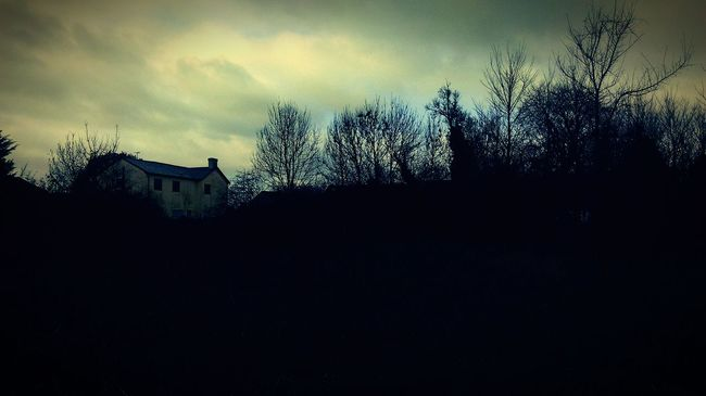 Wish there was a 'Welcome to Royston Vasey' tag 😉 Abandoned Places Abandoned Buildings Abandoned & Derelict Silohette Autumn Autumn 2015 Trees And Sky Bare Tree Eerie Eerie Beautiful Clouds And Sky HTC One