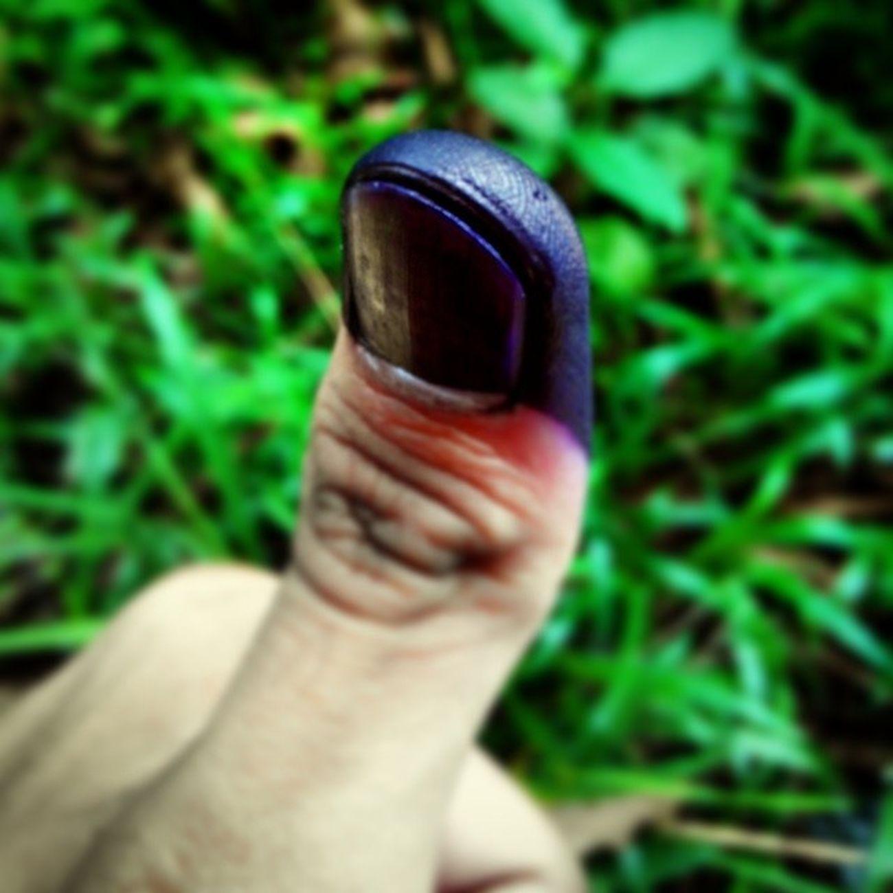 Jari ungu sebagai tanda gw telah melaksanakan tugas sebagai warga negara yang baik: Pilpres President Election Democrazy Semoga capres terbaik yang terpilih memimpin indonesia semakin maju untuk 5 tahun ke depan.