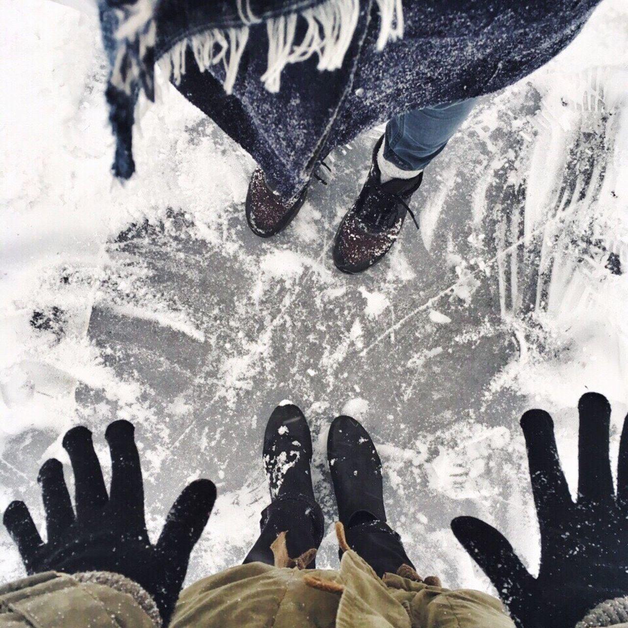 Frozen River Frozen Danube