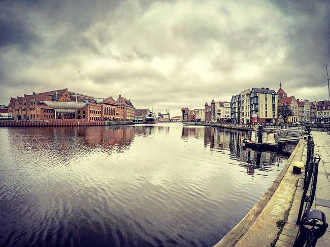 Architecture Architecture Building Exterior Built Structure City Cityscape Cloud - Sky Day Gdansk Gopro Goprohero4 HDR Motława Nature No People Outdoors Philharmony Poland River Sky Water