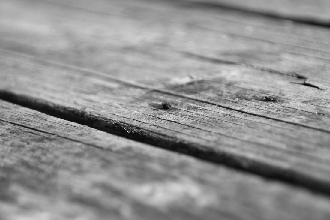 Rusty Nails Wood Grain Table Weathered