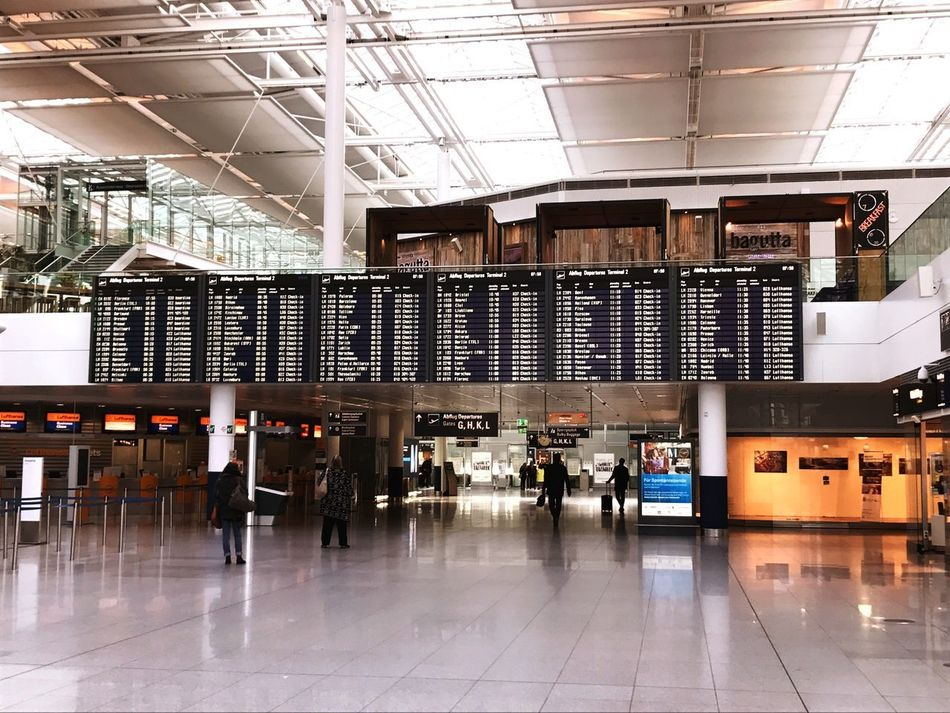 Good Morning Now MUC Airport Architecture Indoors  Built Structure Day Real People Technology People Businessman