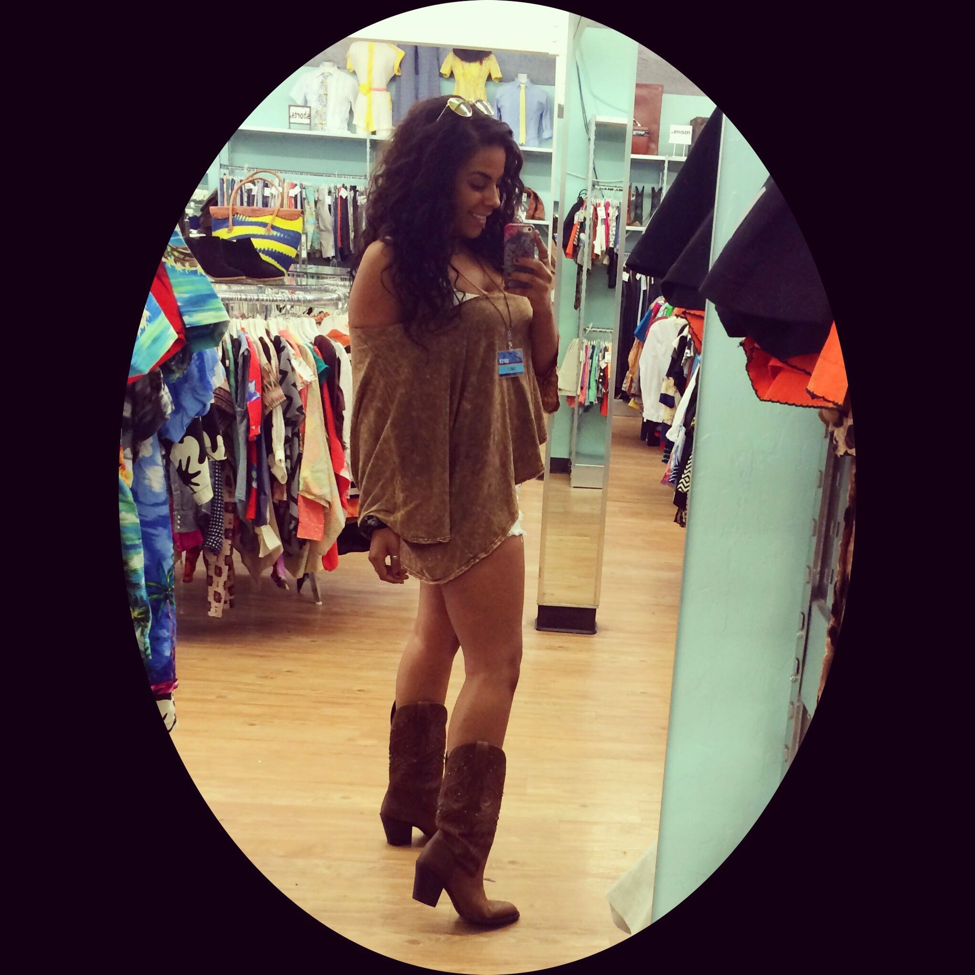 Just another day working my life away.✌️? Boho Thrifting Vintage Bohemian