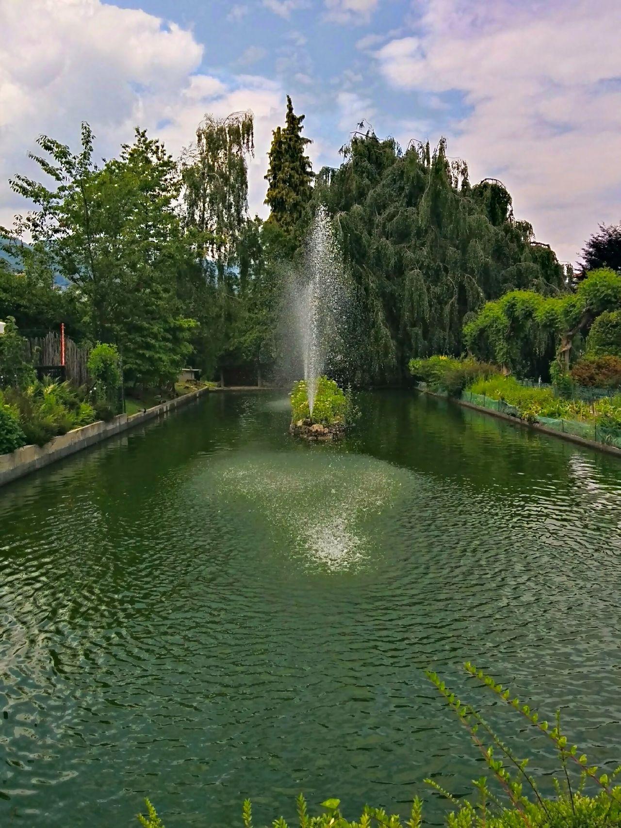 Water Reflections Villa Pallavicino Italy