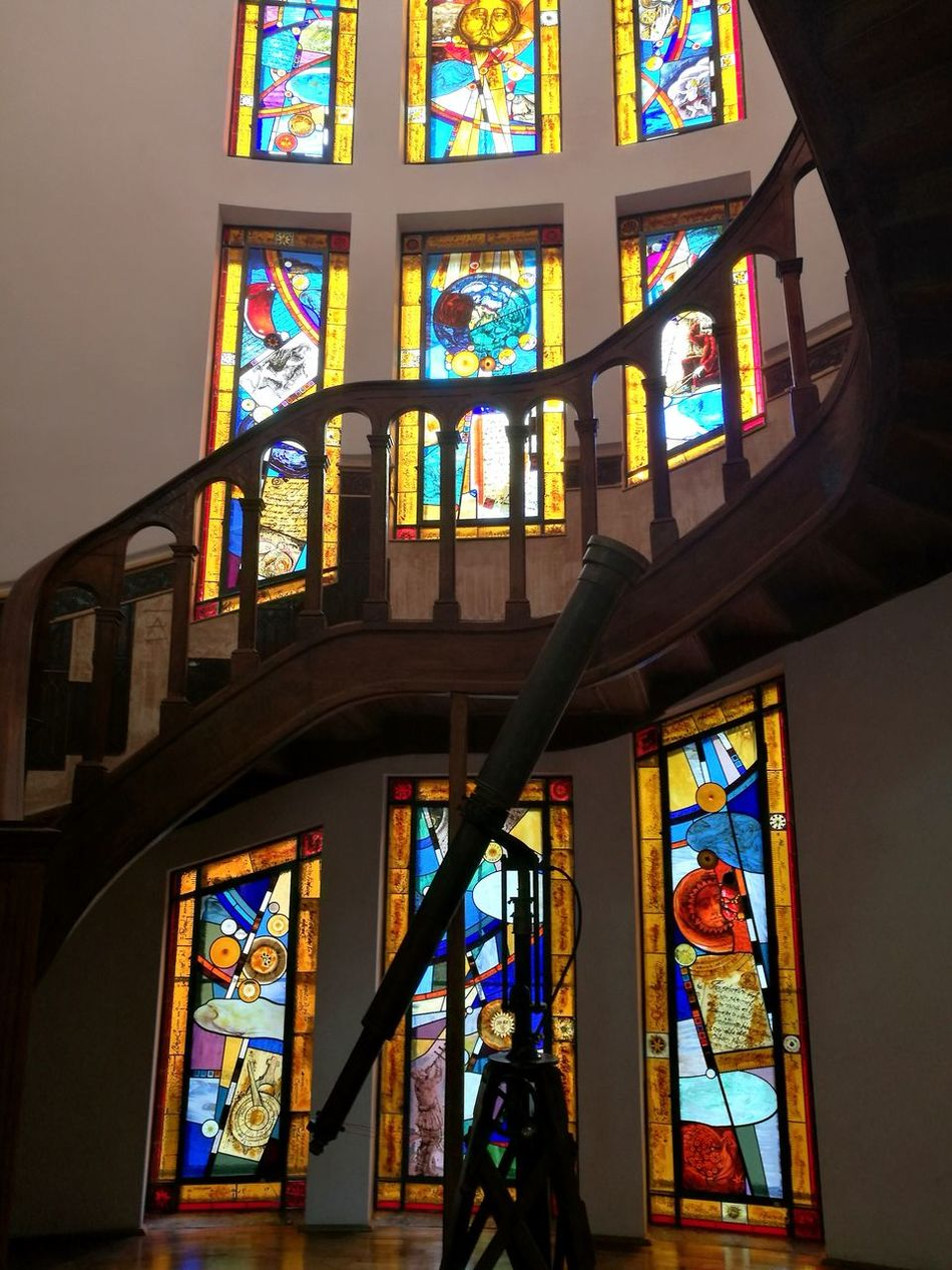 Step into the light Stained Glass Window Built Structure Architecture Observatory