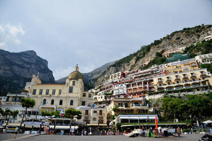 Travel Destinations Travel Architecture Tourism Sky Tree Outdoors Mountain Day Architecture Positano Italy Amalfi Coast