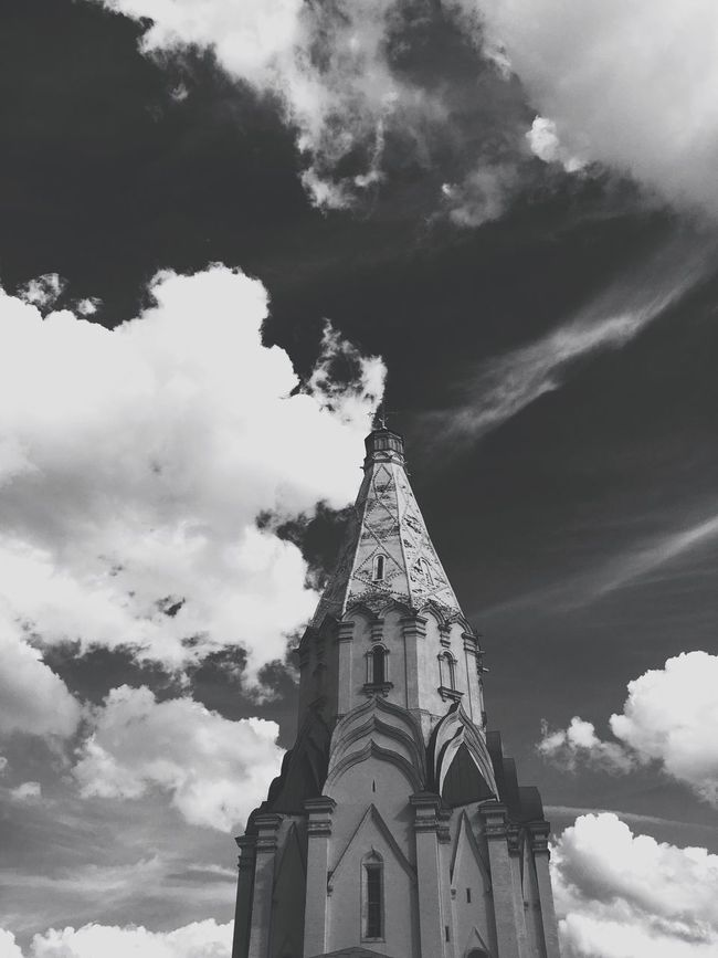 Moscow Msk Kolomenskoye Park Architecture Blackandwhite Sky IPhoneography Black And White Clouds And Sky