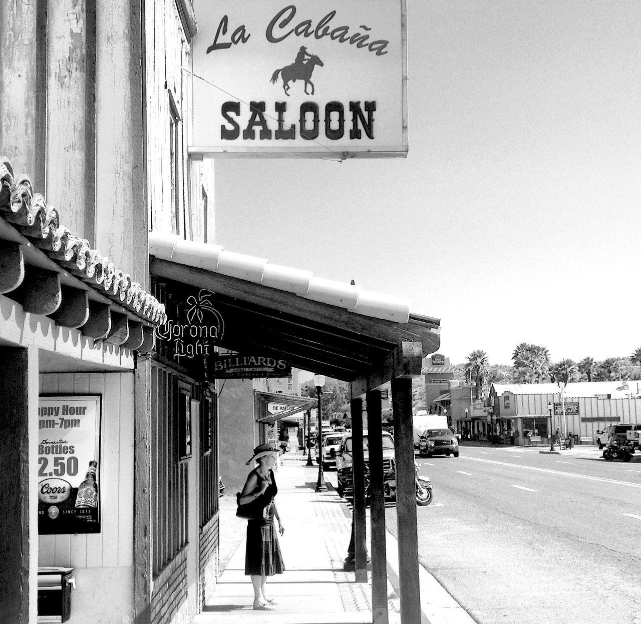 QVHoughPhoto Arizona Wickenburg Lacabaña Saloon Southwest  Western Blackandwhite IPhoneography IPhone4s
