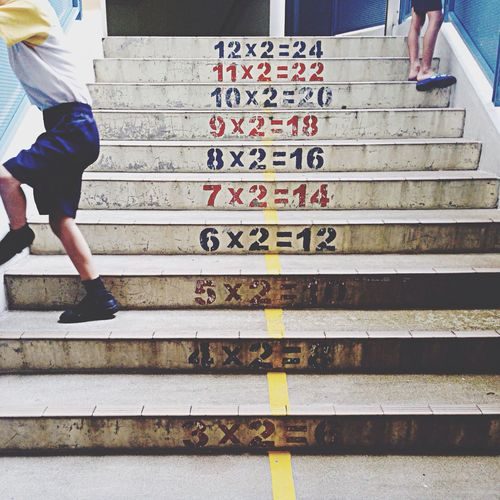 Childhood Childhood Memories School Stairs Multiplication staircase