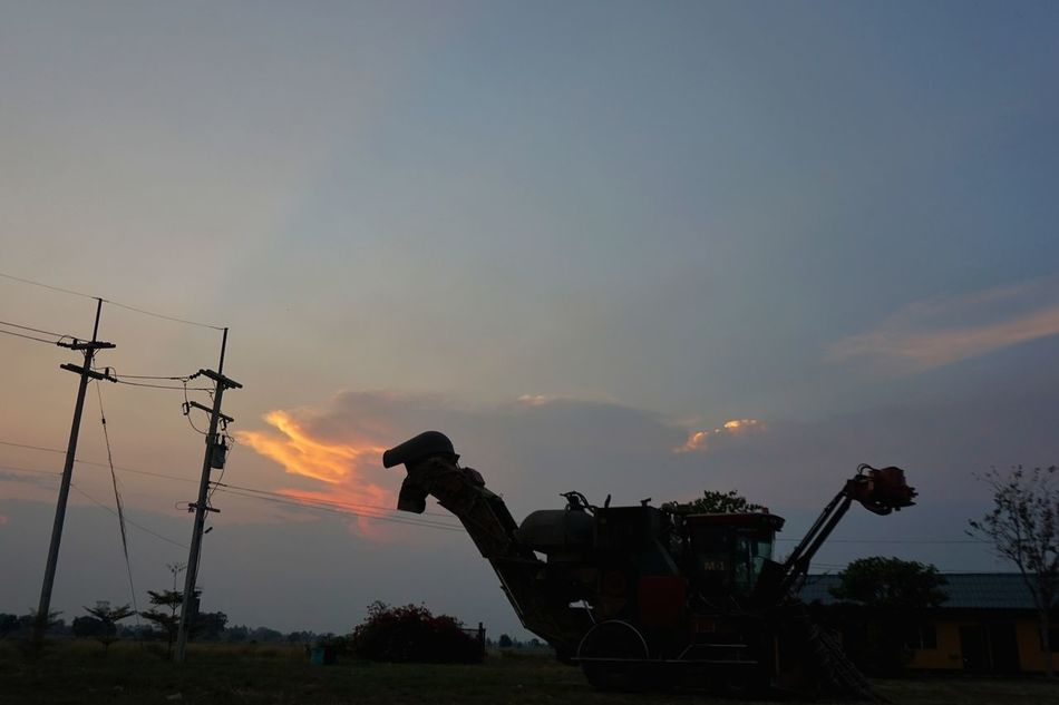 Sunset Tree Outdoors Sky Nature No People Metal Industry Thailand