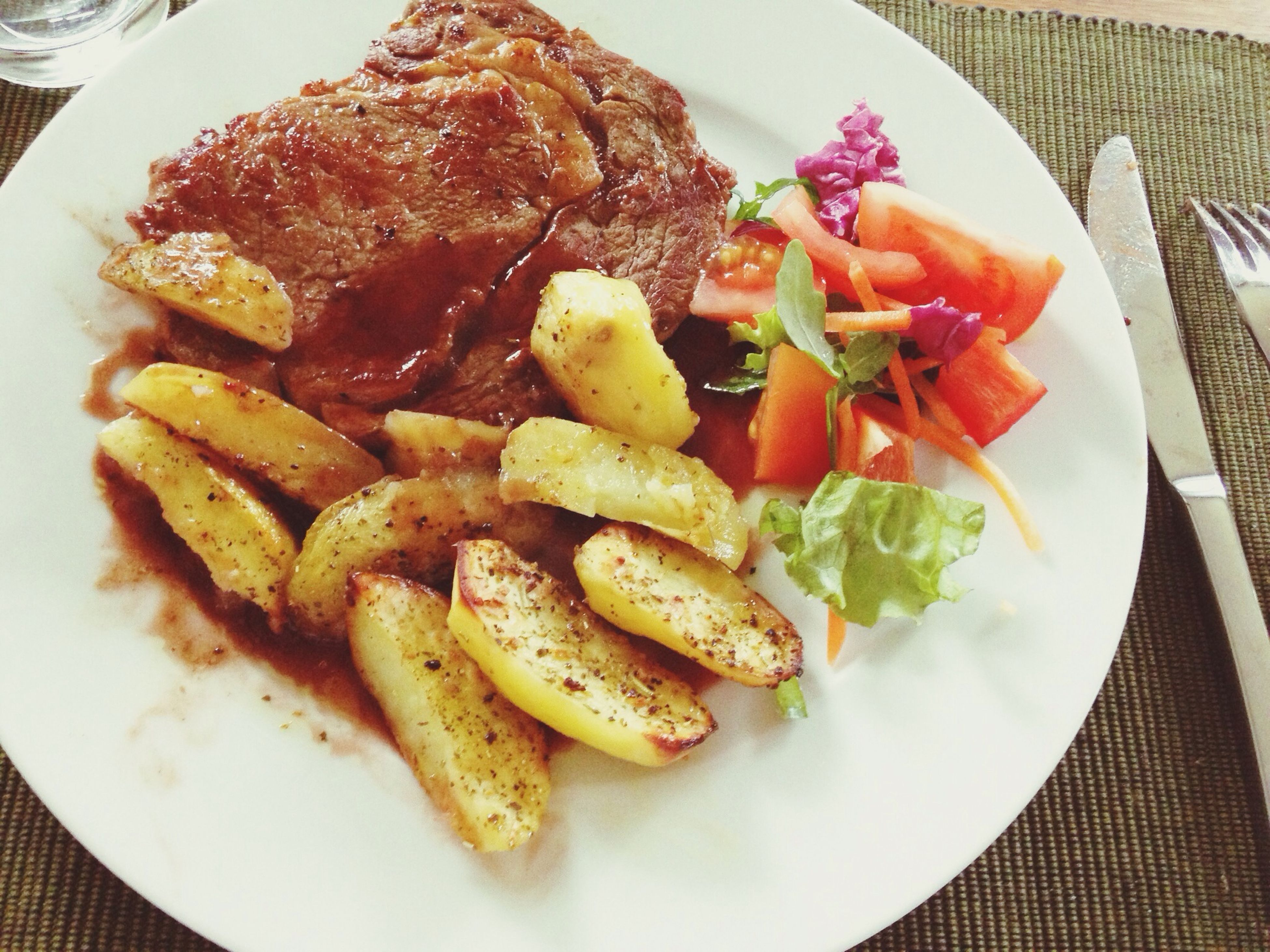 food, food and drink, freshness, indoors, ready-to-eat, plate, still life, table, close-up, serving size, meat, meal, high angle view, healthy eating, served, indulgence, french fries, prepared potato, no people