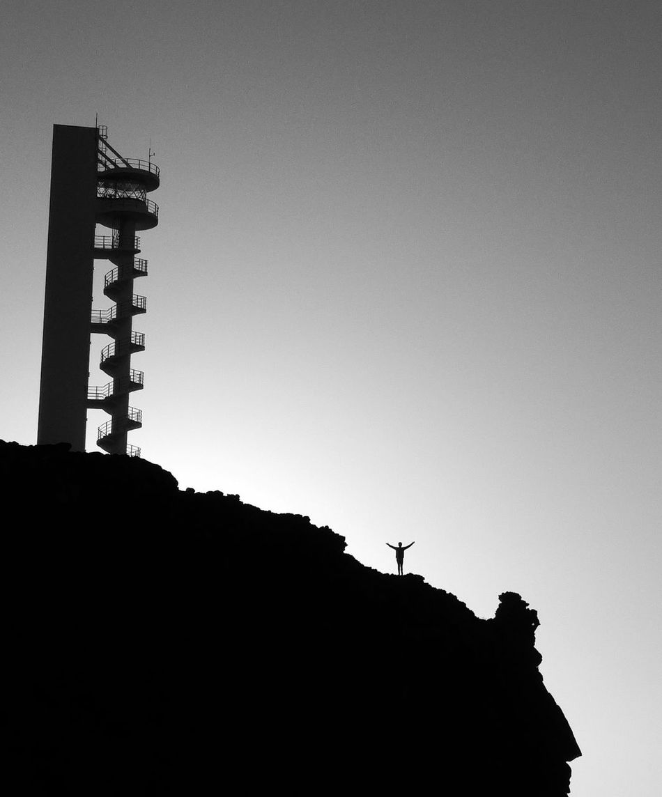 Silhouette Outdoors Model Españoles Y Sus Fotos Europe_gallery Mistery Canary ıslands Tenerife Island Tenerife EspañaLong Exposure Black&white Blackandwhitephotography Scenics Atlantic Coast Canarias Islands Architecture One Person Lighthouse Photography European Architecture Built Structure
