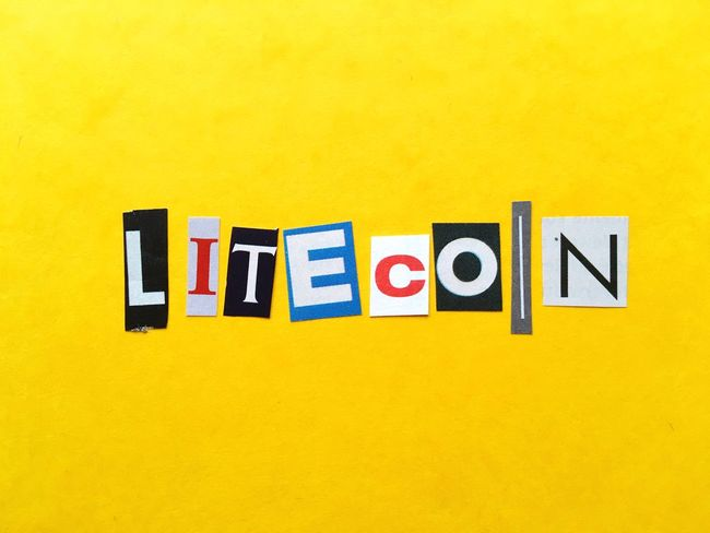 LTC Litecoin Yellow Communication Text Built Structure No People Guidance Architecture