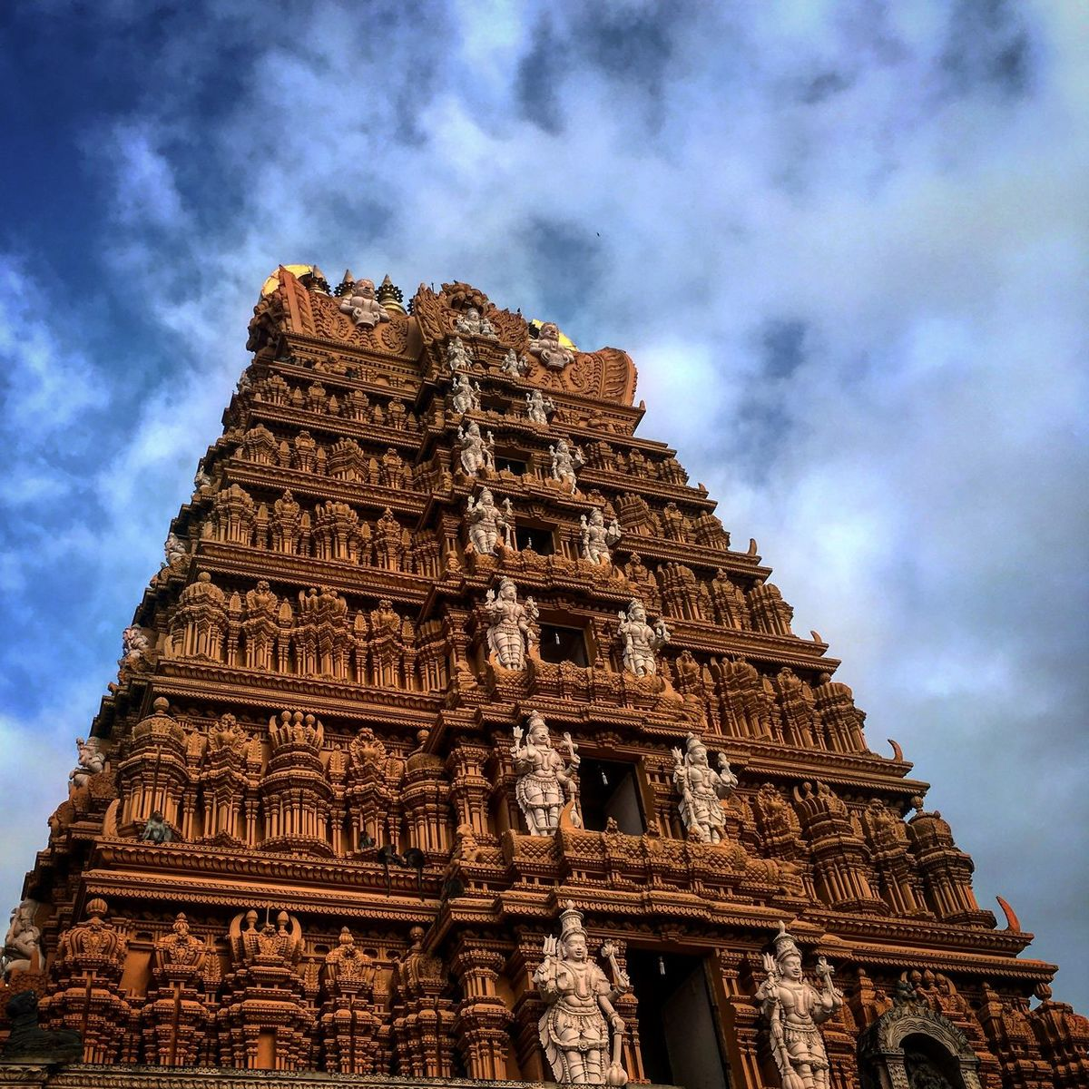 The Towering Gopuram ! Ancient Ancient Civilization Architecture Art And Craft Building Exterior Built Structure Capital Cities  Carving - Craft Product Cloud - Sky Famous Place Gopuram History Lord Siva Ornate Place Of Worship Religion Spirituality The Past Tourism Travel Travel Destinations