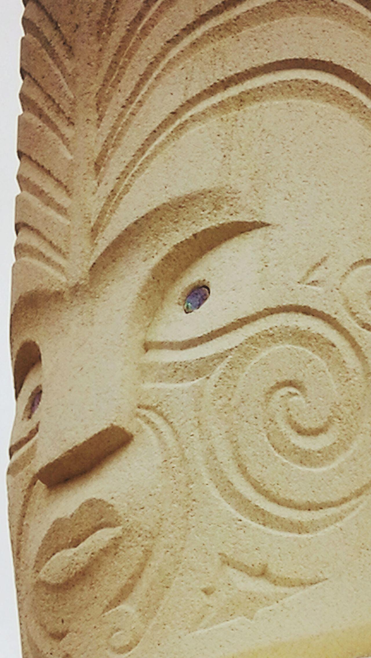 Carving Sculpture Ngati Toa Porirua New Zealand Guardian Ancestor Sand No People Backgrounds Beach Nature Architecture Close-up Day Outdoors
