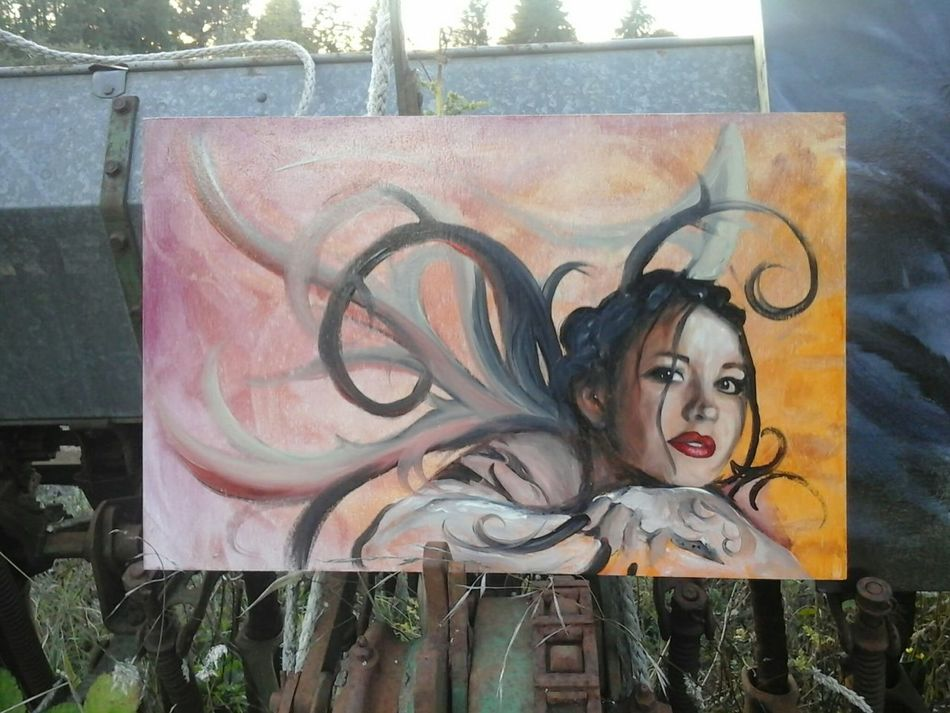 """""""Aine"""" oil on cradled birch board, by Samuel Isaac $150"""