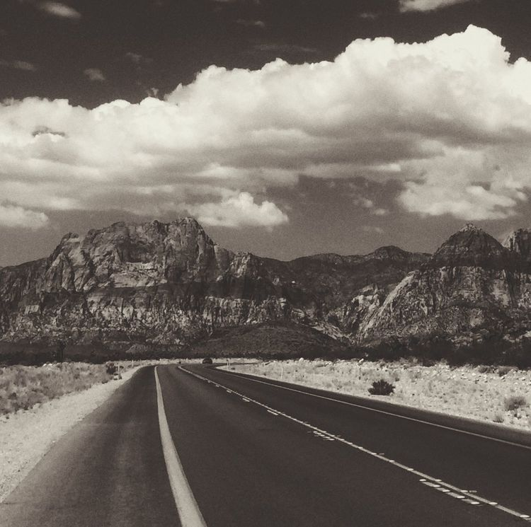 The road to Red Rock Canyon. Red Rock Canyon Las Vegas Nevada Black And White Black & White Photo Contest IPhoneography