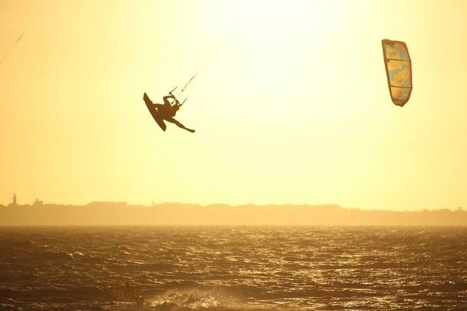 Flying Sunset Mid-air Silhouette Nature Beach Sea Outdoors Air Vehicle Kite - Toy Sky Men People Adult One Person Water Beauty In Nature Day Only Men One Man Only South Africa Cape Town King Of The Air Kitesurfing Kitesurf