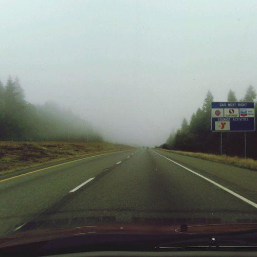 Road Fog Quiet PNW