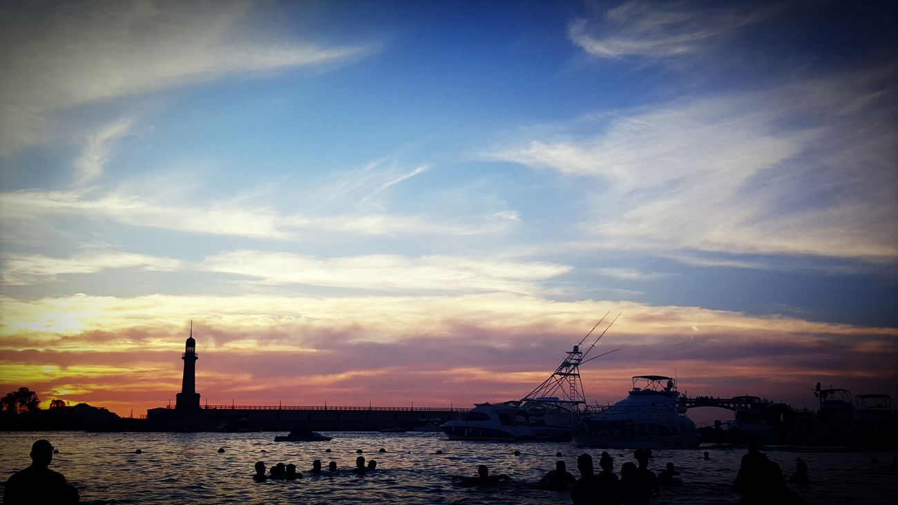 Alexandria Egypt Blue Cloud - Sky Clouds Day Landscape Nature Orange Sky Outdoors Sea Sky Sunset Water First Eyeem Photo