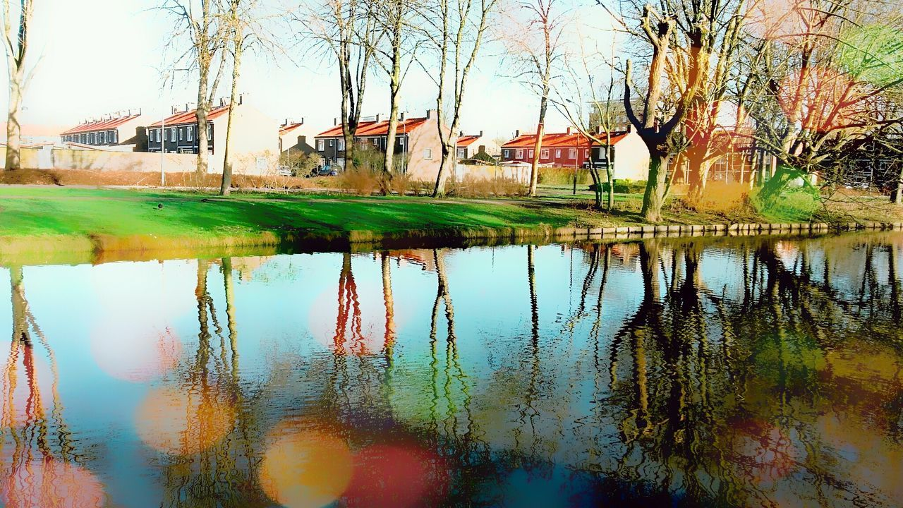 Reflection Water Nature Beauty In Nature Landscape Dutch Landscape Architecture Sky Clouds And Sky Architecture EyeEm Best Edits Photography Nederland Enjoying Life Hello World OpenEdit Nederlands Check This Out Photooftheday Taking Photos Sun Winter 2017 Landscape_photography Dutch Countyside Art